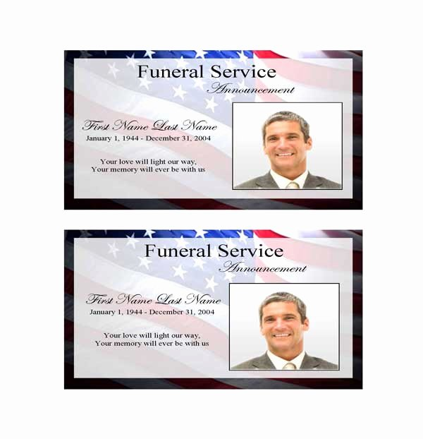 Funeral Announcement Templates Free Elegant Patriotic Us Funeral Announcement Template Elegant Memorials