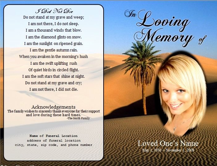 Funeral Announcement Templates Free Luxury 1000 Images About Printable Funeral Program Templates On