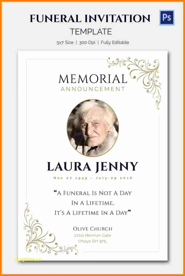 Funeral Announcement Templates Free Luxury 5 Funeral Announcement Templates
