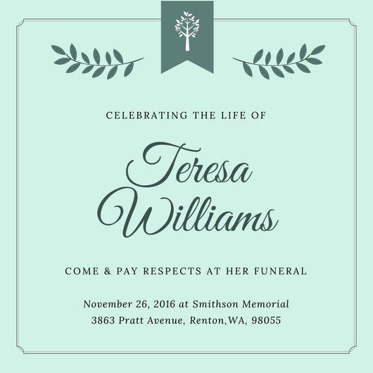 Funeral Announcement Templates Free Luxury Customize 40 Funeral Invitation Templates Online Canva
