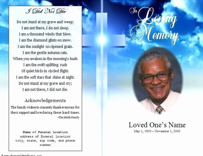 Funeral Announcement Templates Free New Funeral Announcement Template Free Picture – Funeral