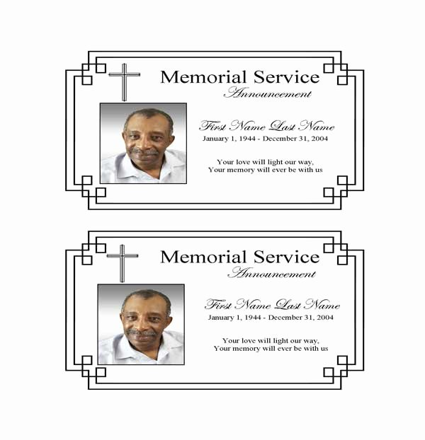 Funeral Announcement Templates Free Unique Classic Cross Funeral Announcement Template Elegant