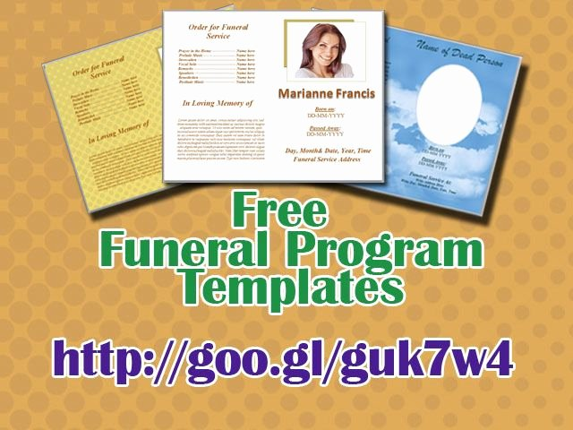 funeral program templates for ms word to