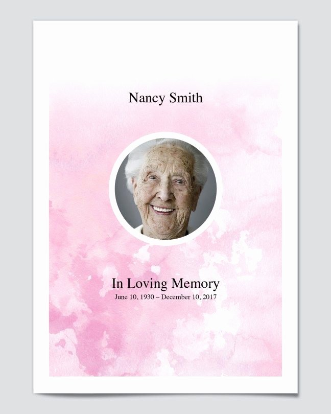 Funeral Program Free Template Inspirational Free Editable Funeral Program Templates Free Editable
