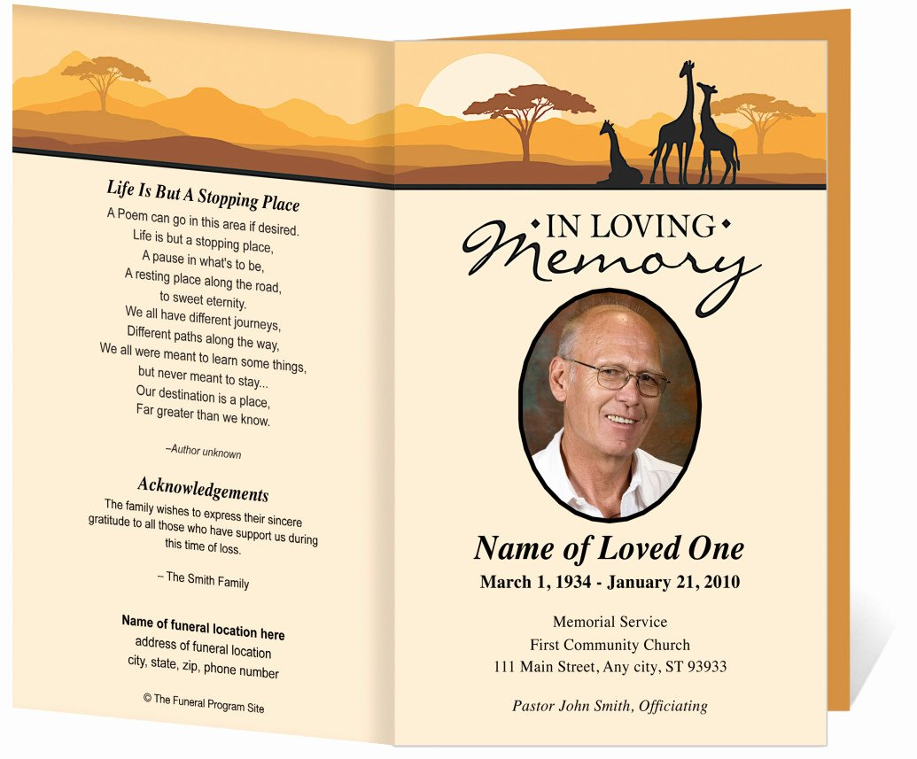 Funeral Program Free Template Inspirational Free Funeral Program Template