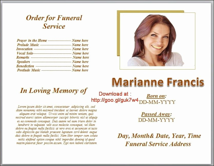 Funeral Program Free Template Lovely Funeral Program Templates On Pinterest Downloadable