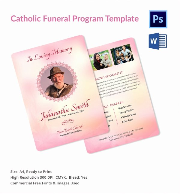 Funeral Program Free Template Lovely Sample Catholic Funeral Program 12 Documents In Pdf