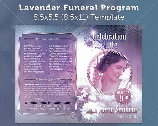 Funeral Program Free Template Lovely Sample Funeral Program Template 30 Download Free