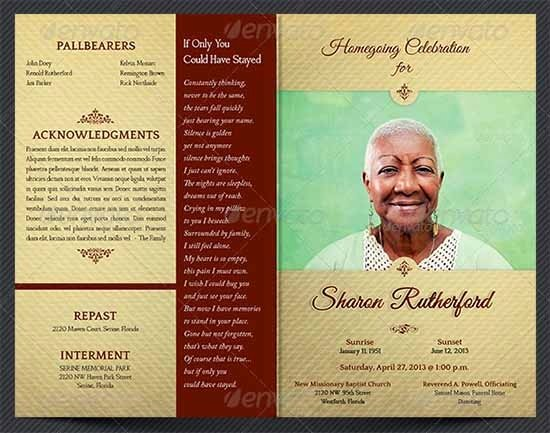Funeral Program Free Template Luxury Sample Funeral Program Template 30 Download Free