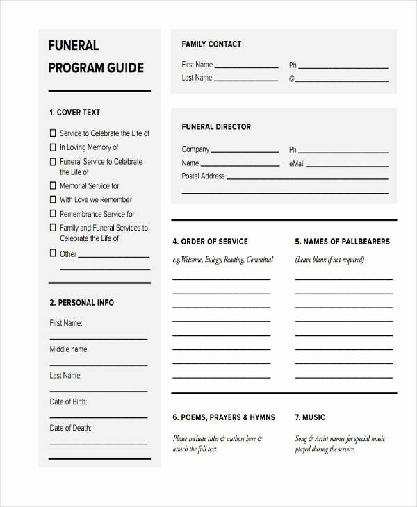 Funeral Program Free Template Unique 26 Free Obituary Templates