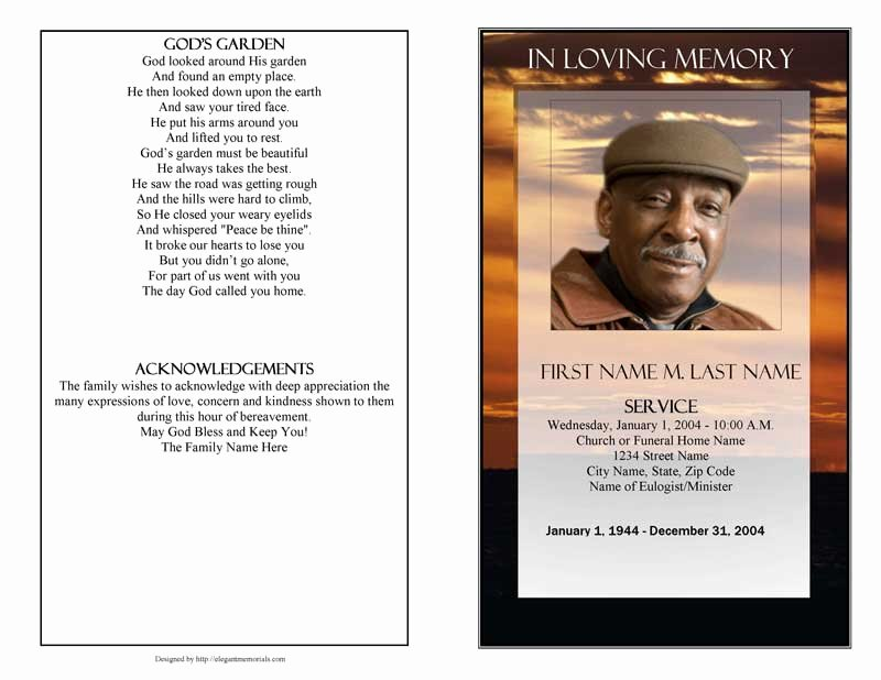Funeral Program Template Publisher Beautiful Funeral Program Template