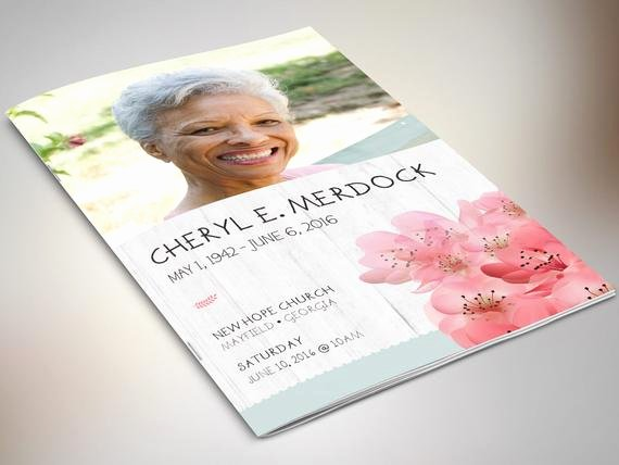 Funeral Program Template Publisher Inspirational Magnolia Funeral Program Publisher Template by Godserv On Etsy