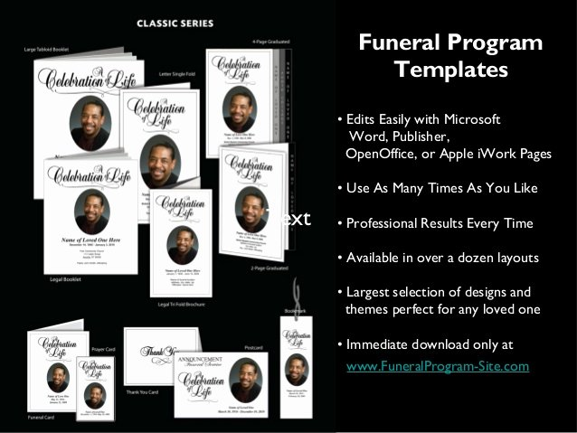 Funeral Program Template Publisher Inspirational Printable Funeral Programs Templates