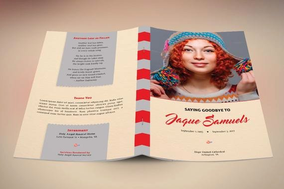 Funeral Program Template Publisher Lovely Goodbye Funeral Program Publisher Template From Godserv On