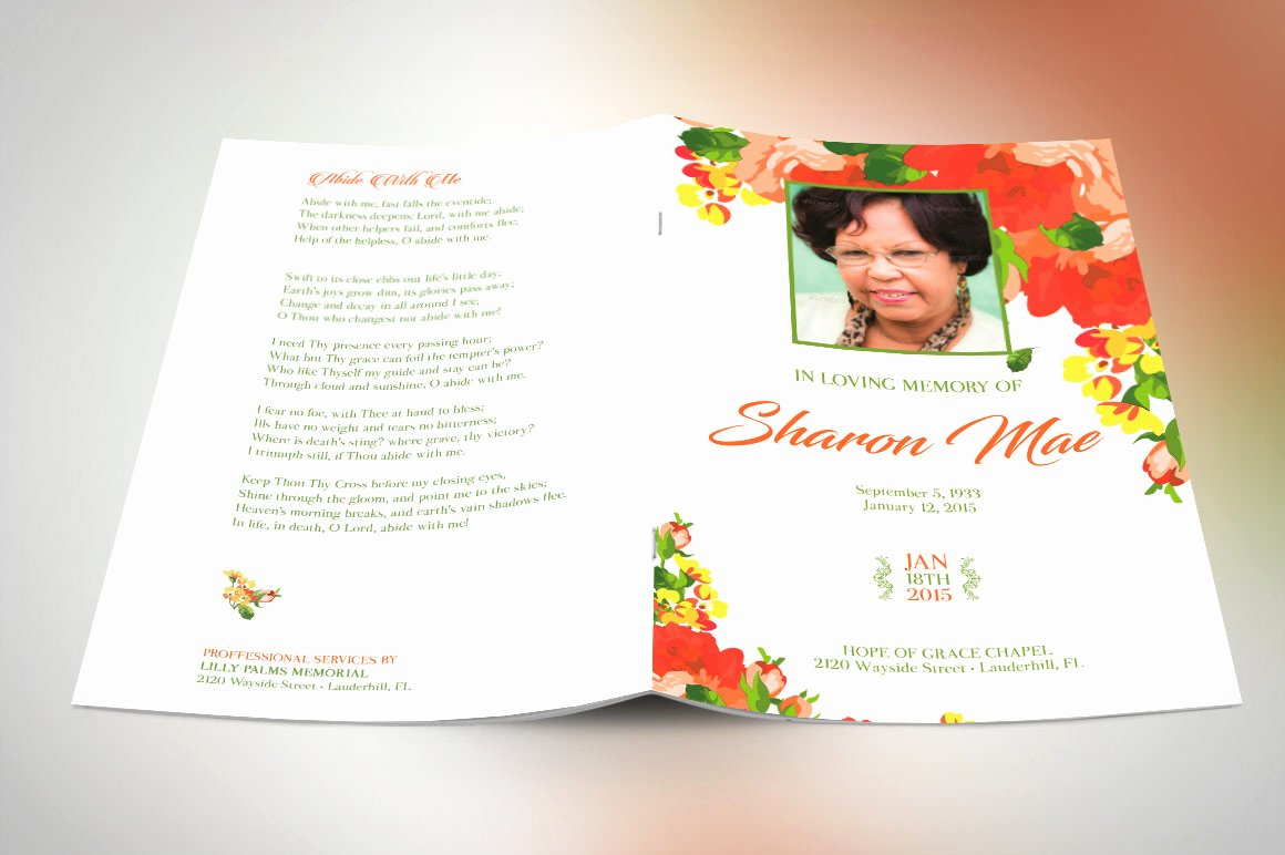 Funeral Program Template Publisher Lovely Obituary Templates Over 40 Printable Funeral Programs