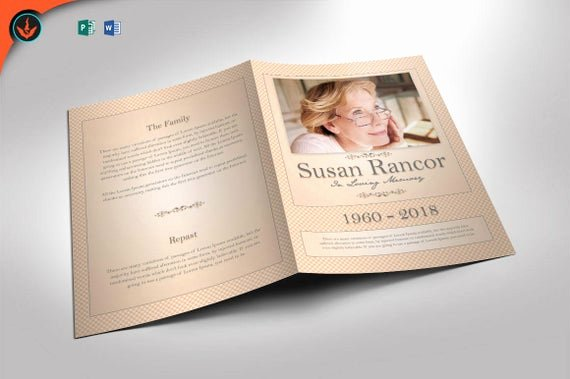 Funeral Program Template Publisher New Classic Funeral Program Word 2013 and Publisher Template