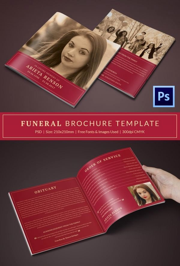 Funeral Program Template Word Free Awesome 31 Funeral Program Templates – Free Word Pdf Psd