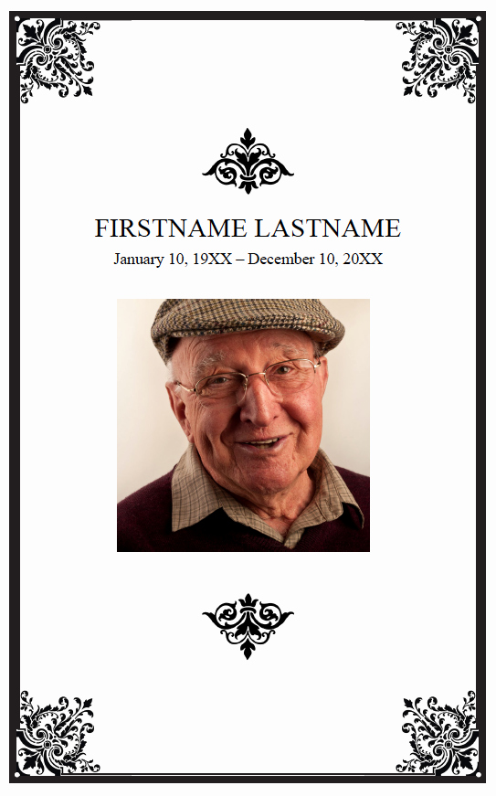 Funeral Program Template Word Free Elegant Free Editable Funeral Program Template