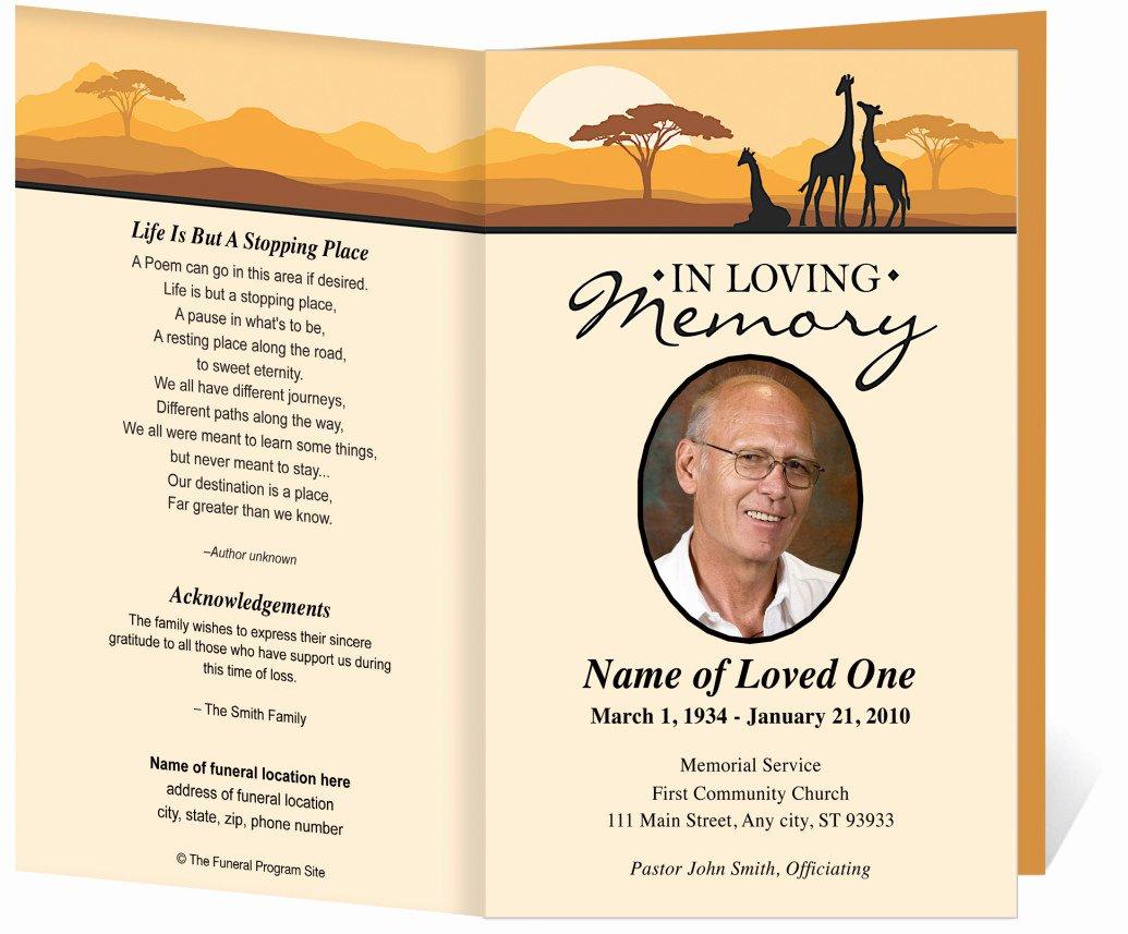 Funeral Program Template Word Free Elegant Free Funeral Program Template