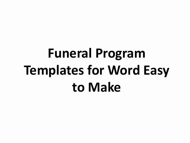 Funeral Program Template Word Free Luxury Free Printable Funeral Program Template for Word to Download