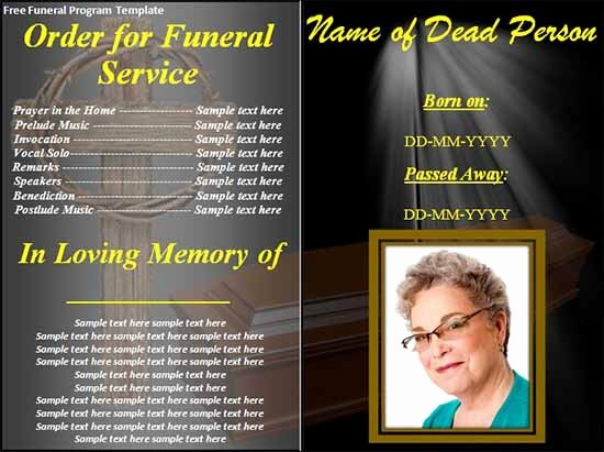 Funeral Program Template Word Free Unique Sample Funeral Program Template 30 Download Free