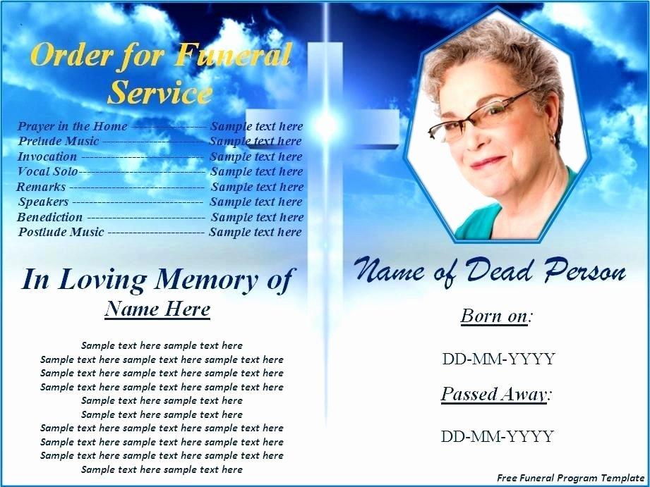 Funeral Program Templates Word Lovely Free Printable Funeral Programs Templates Image – Our