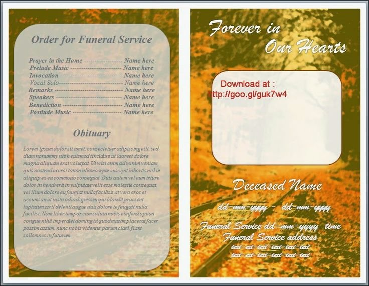 Funeral Program Templates Word Luxury 79 Best Images About Funeral Program Templates for Ms Word