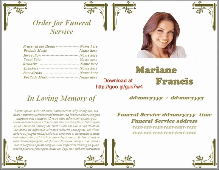 Funeral Program Templates Word Unique Pin On Funeral Program Templates for Ms Word to Download