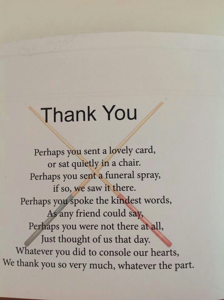 "Funeral Thank You Sayings Elegant Post Funeral ""thank You"" Note Sayings"