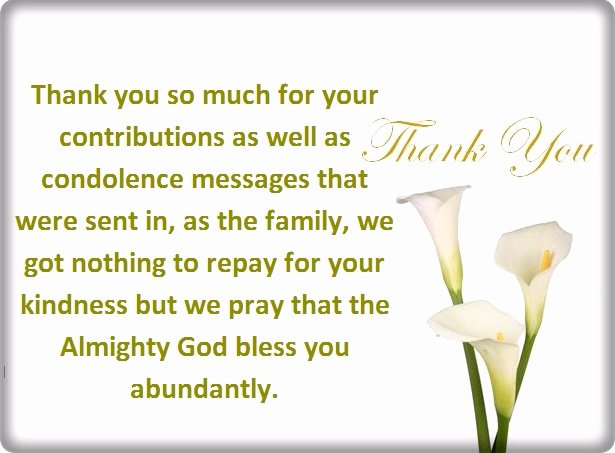 Funeral Thank You Sayings Elegant Thank You for Your Condolences Quotes and Notes