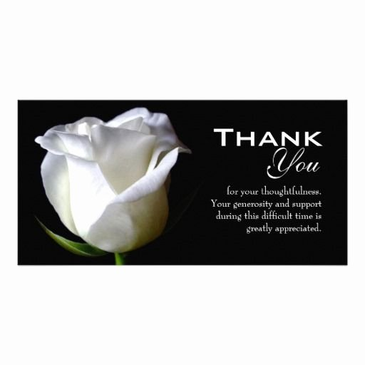 Funeral Thank You Sayings Luxury Sympathy Funeral Thank You Card