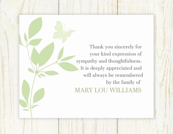 Funeral Thank You Sayings Unique butterfly Funeral Thank You Card Digital File Sympathy