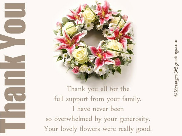 Funeral Thank You Sayings Unique Funeral Thank You Notes 365greetings