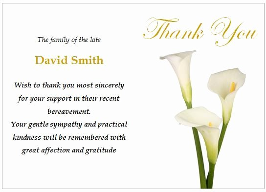 Funeral Thank You Sayings Unique Image Result for Funeral Thank You Card Ideas