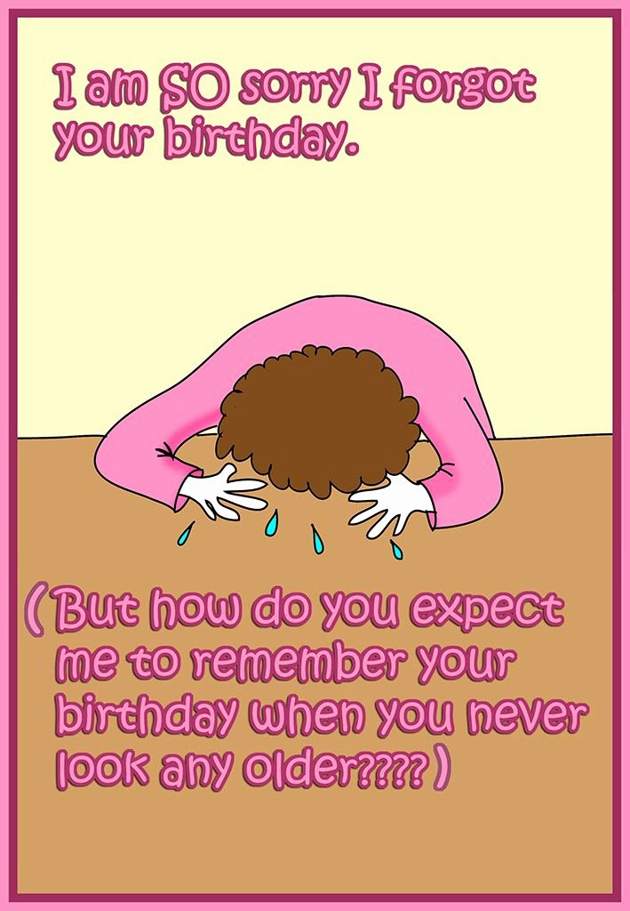 Funny Birthday Card Printable Beautiful Funny Printable Birthday Card forgot Your Birthday