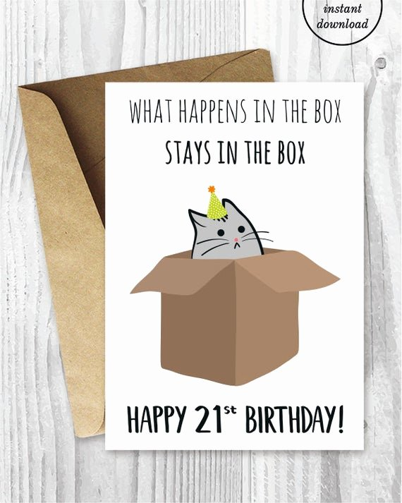 Funny Birthday Cards Printable Fresh 21st Birthday Printable Cards Funny 21st Birthday Cards