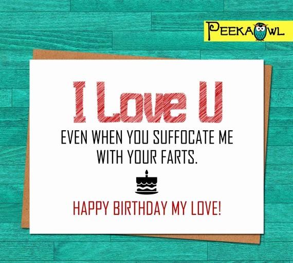 Funny Birthday Cards Printable Inspirational Instant Download Funny Birthday Card Boyfriend Husband