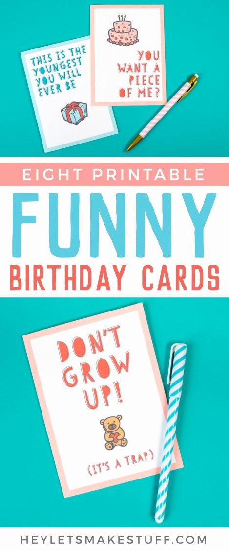 Funny Birthday Cards Printable Unique Free Funny Printable Birthday Cards for Adults Eight