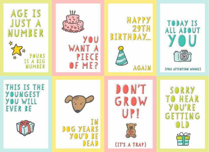 Funny Free Printable Birthday Cards Fresh Free Funny Printable Birthday Cards for Adults Eight