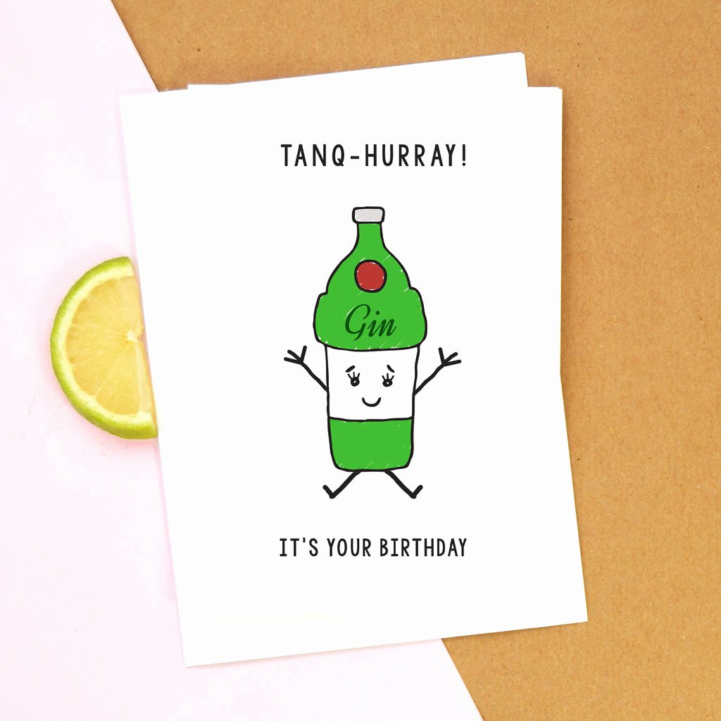 Funny Free Printable Birthday Cards Fresh Funny Gin Birthday Card by Of Life & Lemons