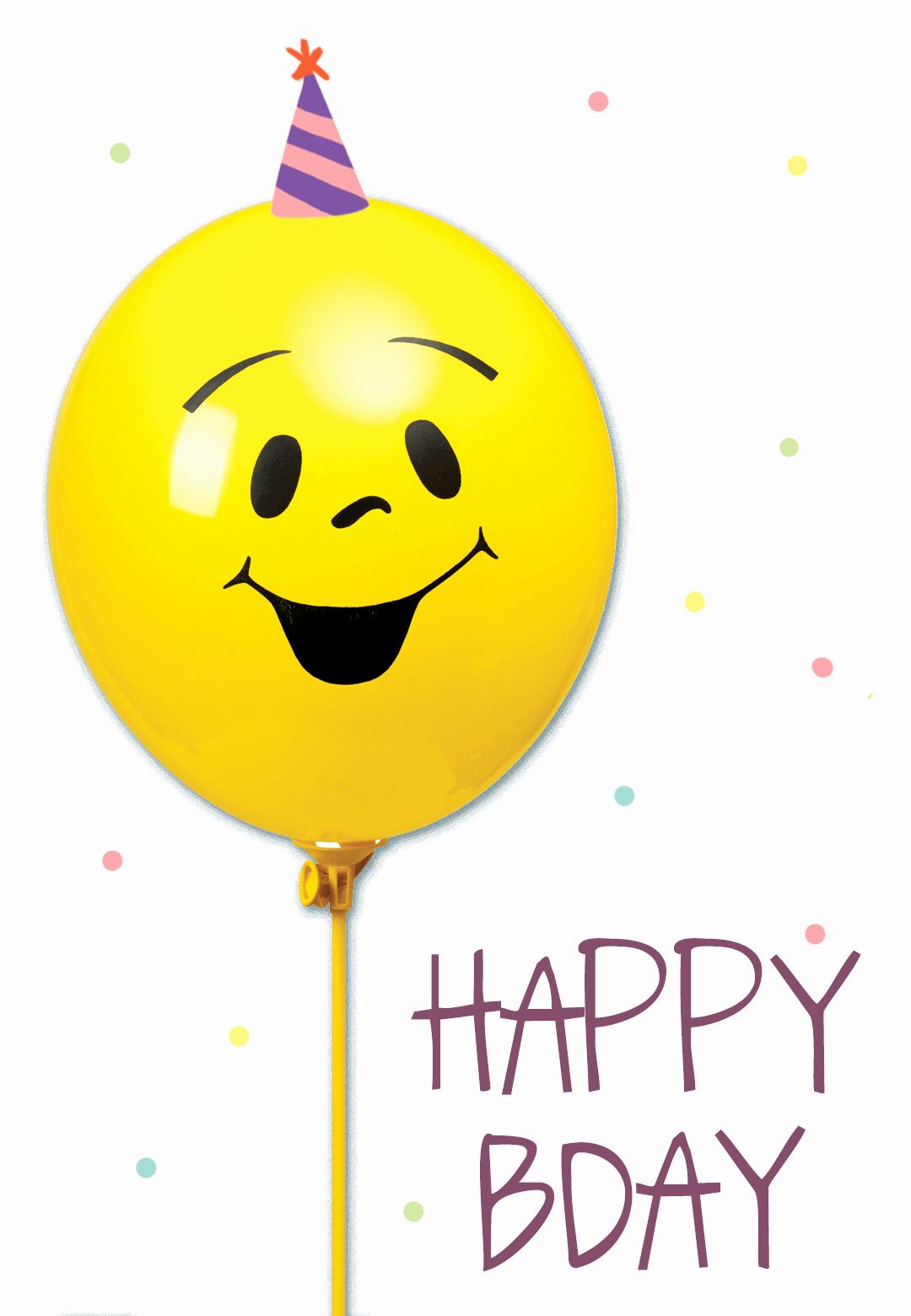 Funny Free Printable Birthday Cards Fresh Smiley Yellow Balloon Birthday Card