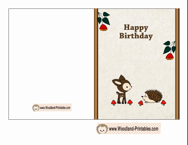 Funny Free Printable Birthday Cards Inspirational Free Printable Woodland Birthday Cards