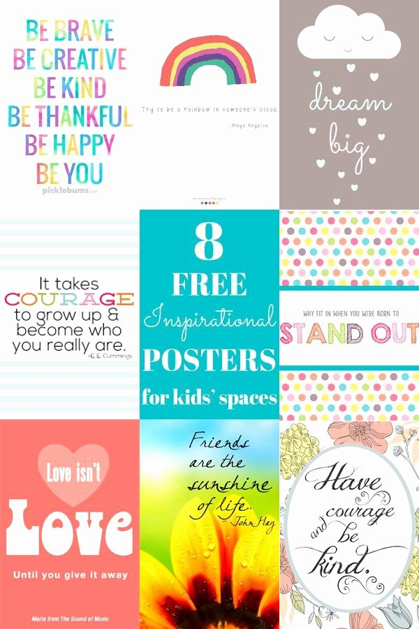 Funny Posters for Kids Awesome 8 Free Inspirational Posters for Kids Spaces