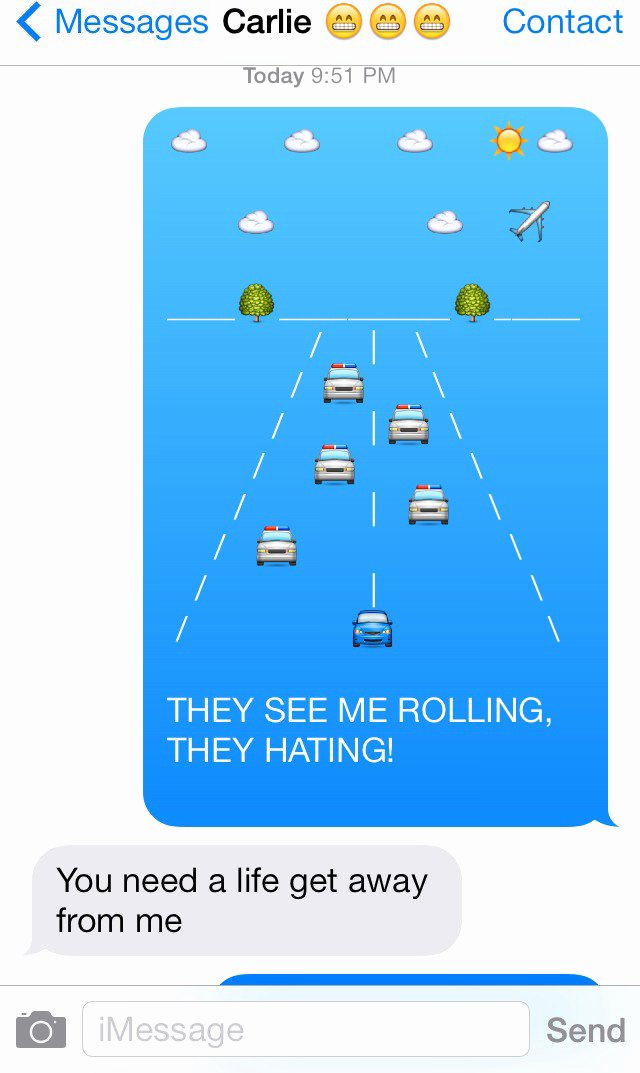 Funny Text with Emojis Awesome 23 Clever and Funny Use Of Emojis Hongkiat
