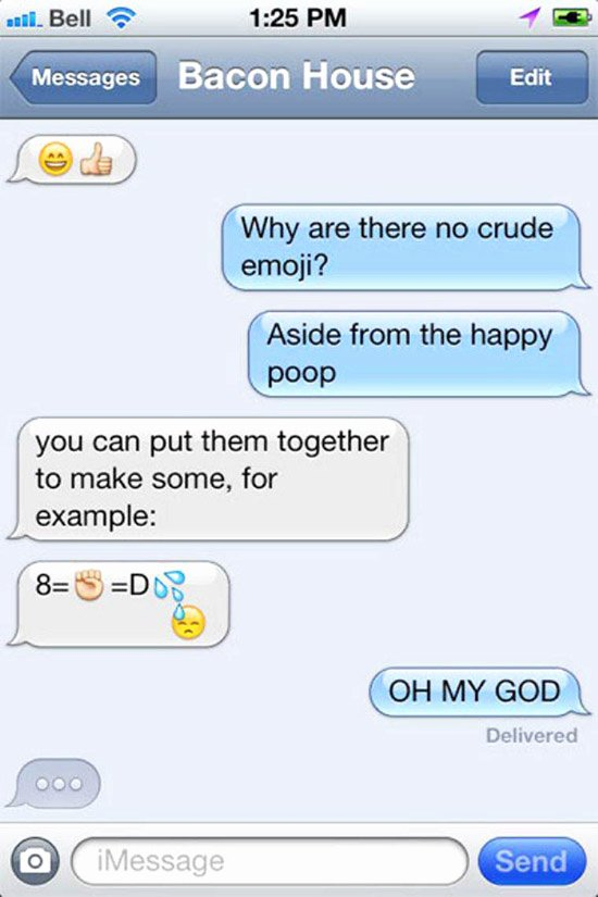 Funny Text with Emojis Fresh 23 Random Pics Of the Awesomely Weird