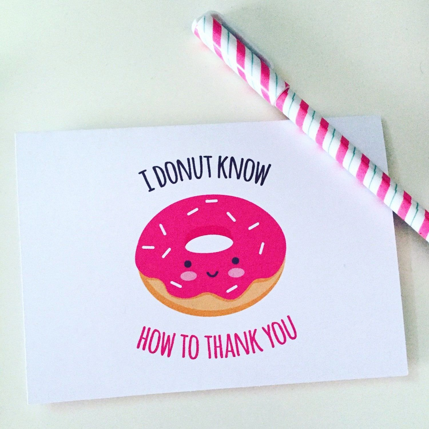 Funny Thank You Messages Best Of Biglietto Stampabile Di Ringraziamento Con Donut Kawaii