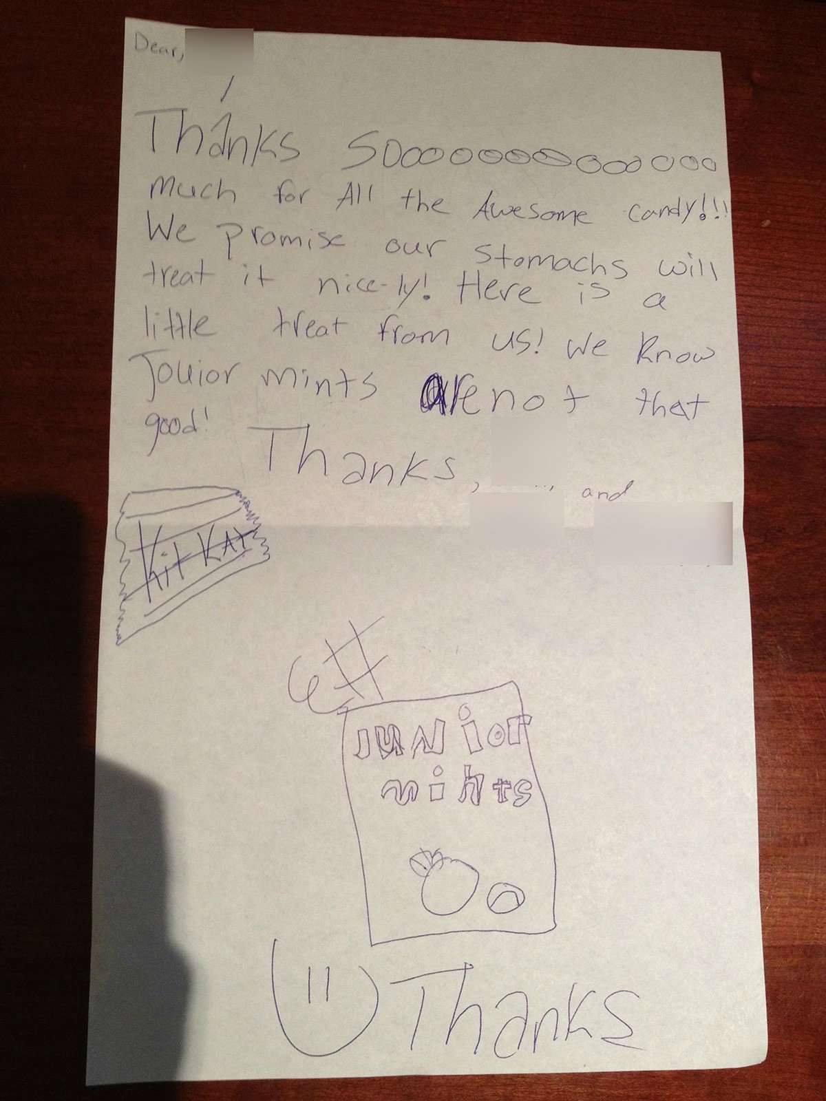 Funny Thank You Messages Elegant Funny Thank You Letters From Kids that are totally Spot