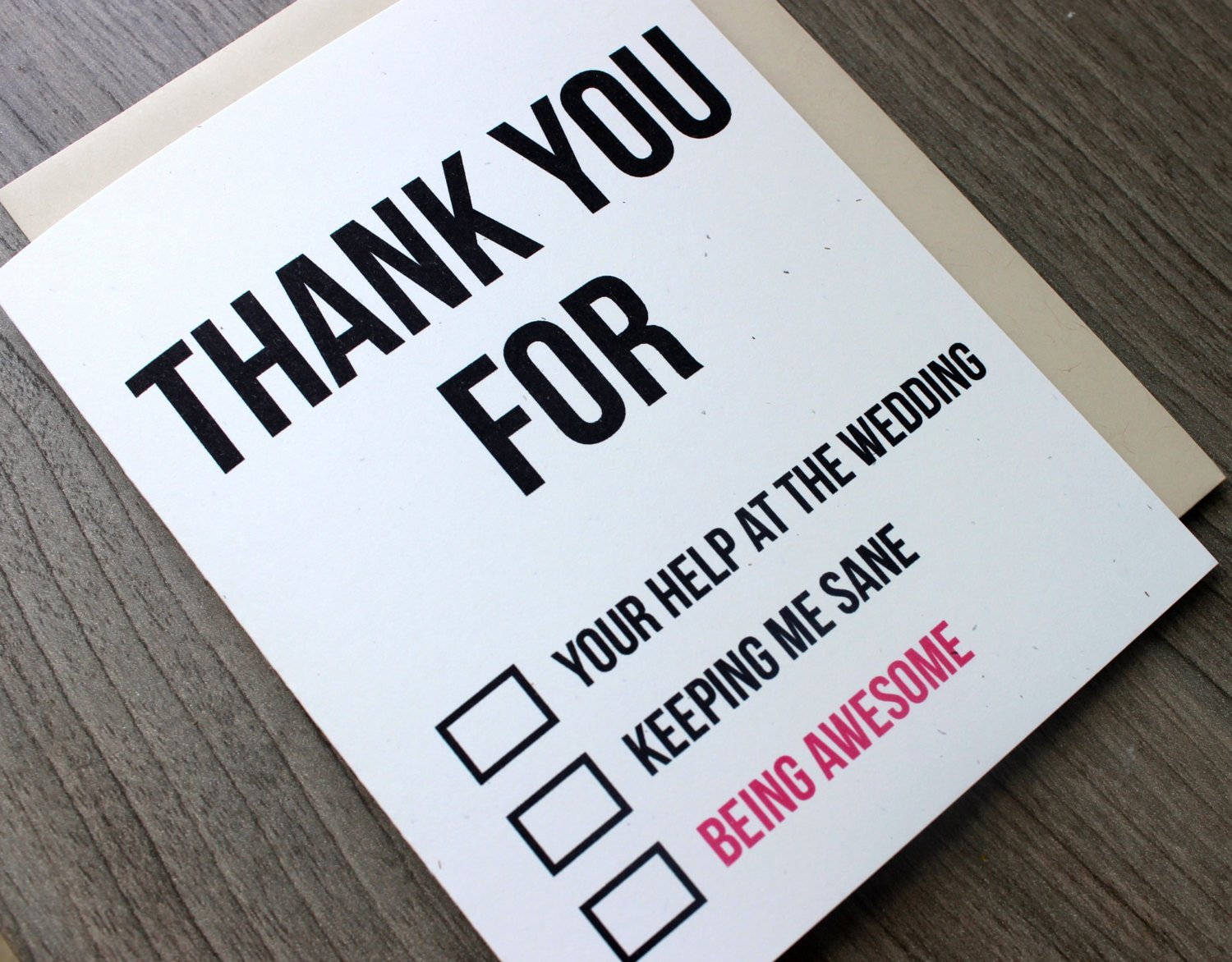 Funny Thank You Messages Fresh Thank You Card Wedding Funny Thank You Card by Pattersonpaper