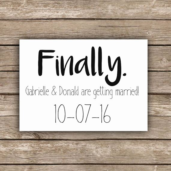 Funny Wedding Invitation for Friends Inspirational Printable Funny Save the Date Finally Shit Just Got Real