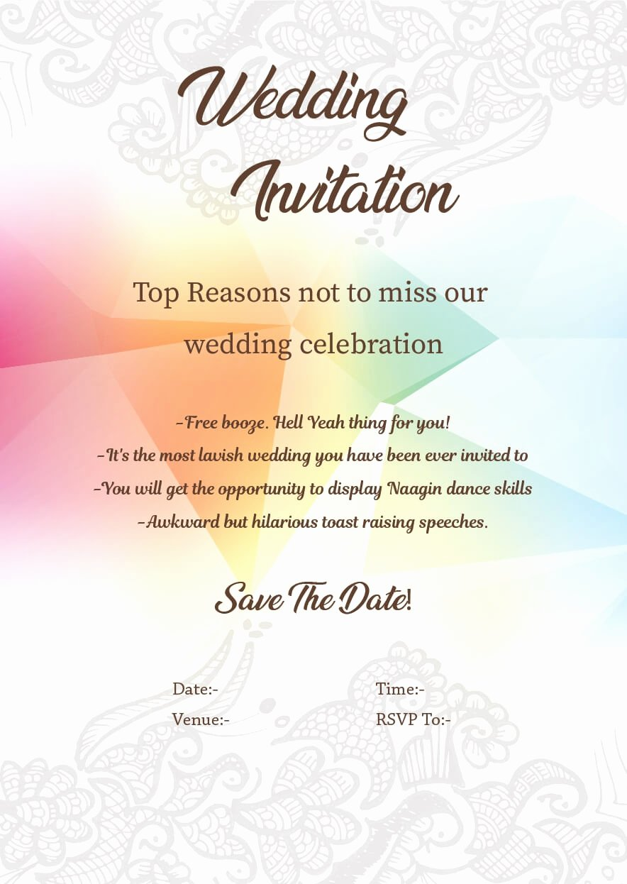 Funny Wedding Invitation for Friends New Wedding Invitation Wordings for Friends Invite Quotes